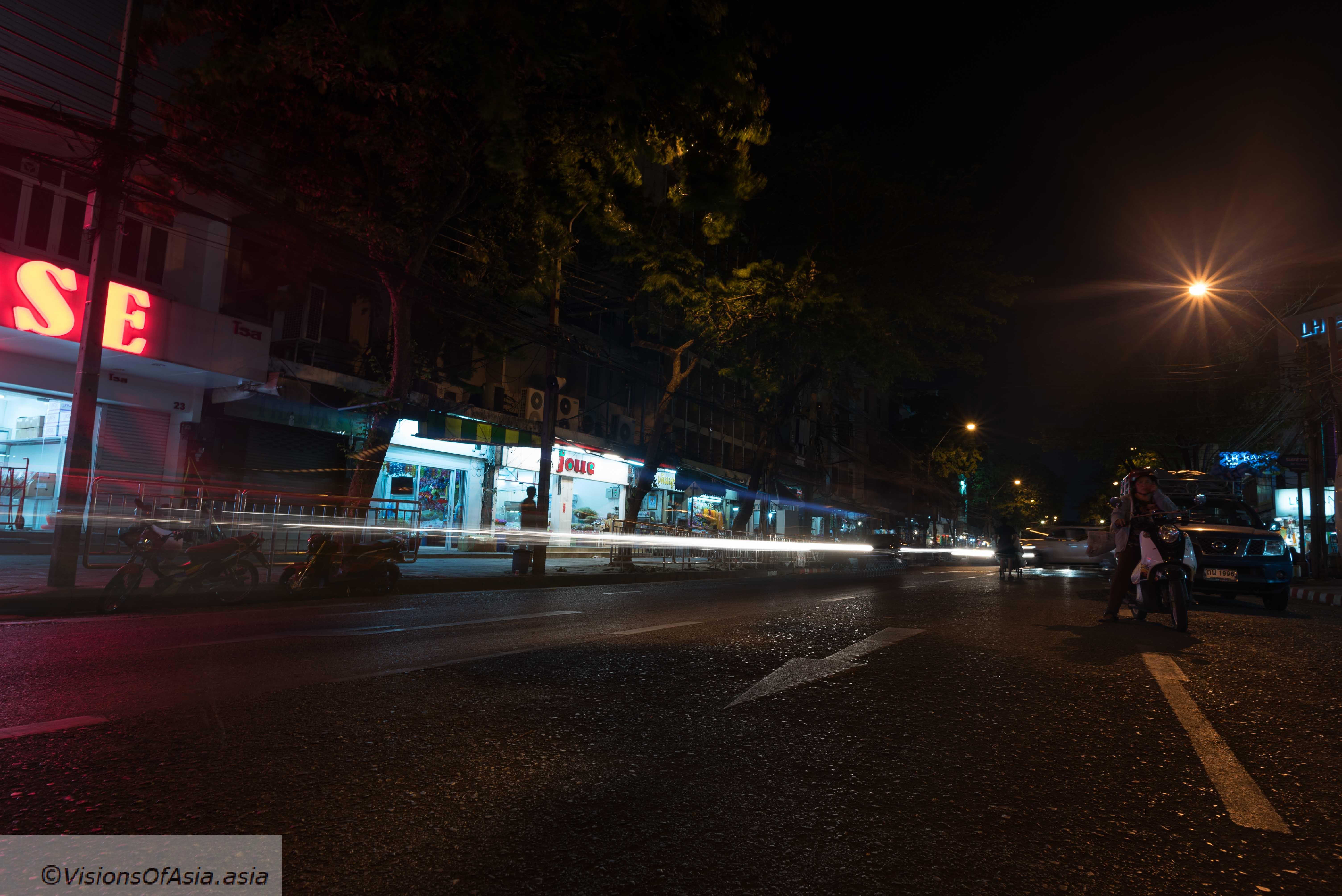 Dark and empty street