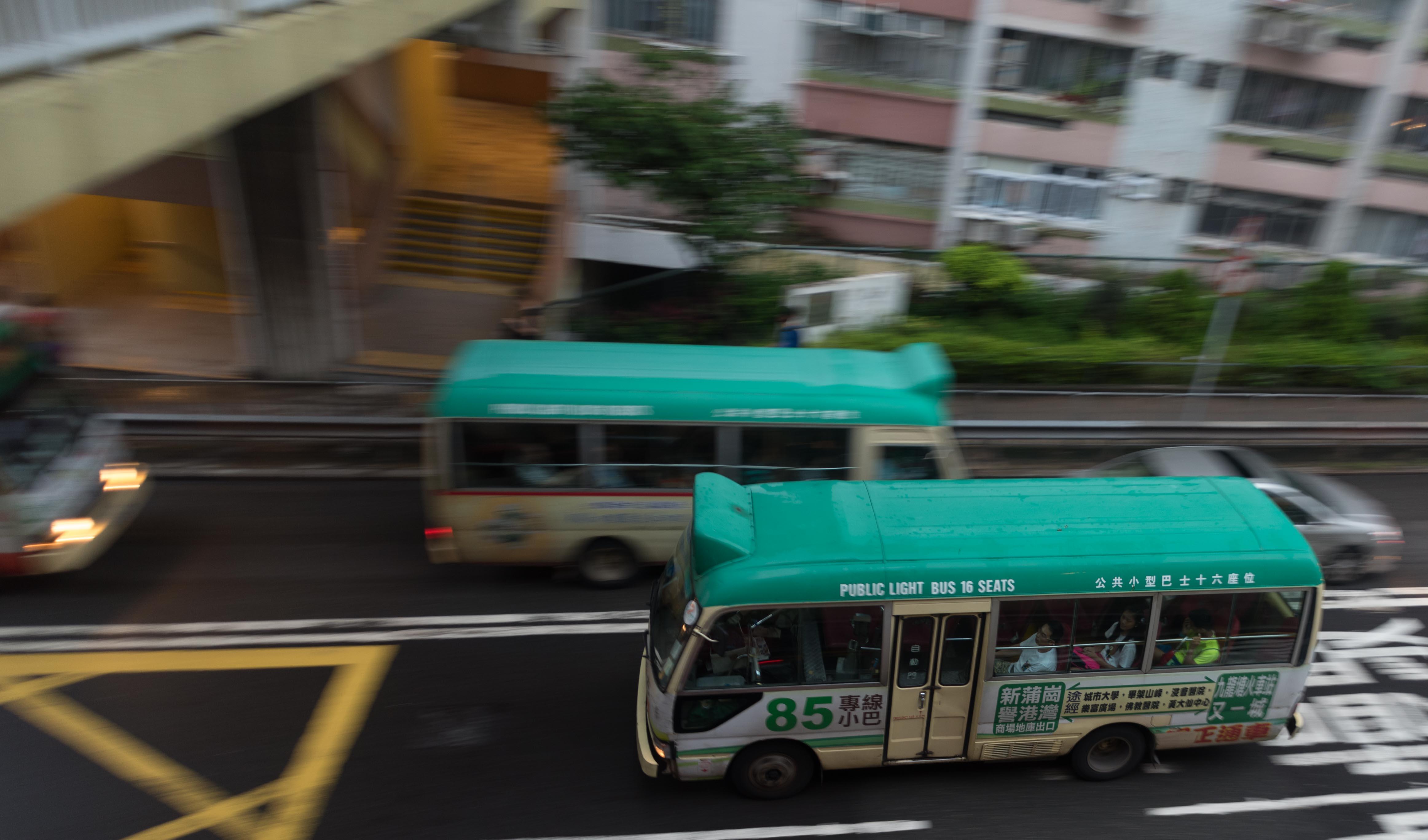 La vie en rose in a Hong Kong minibus