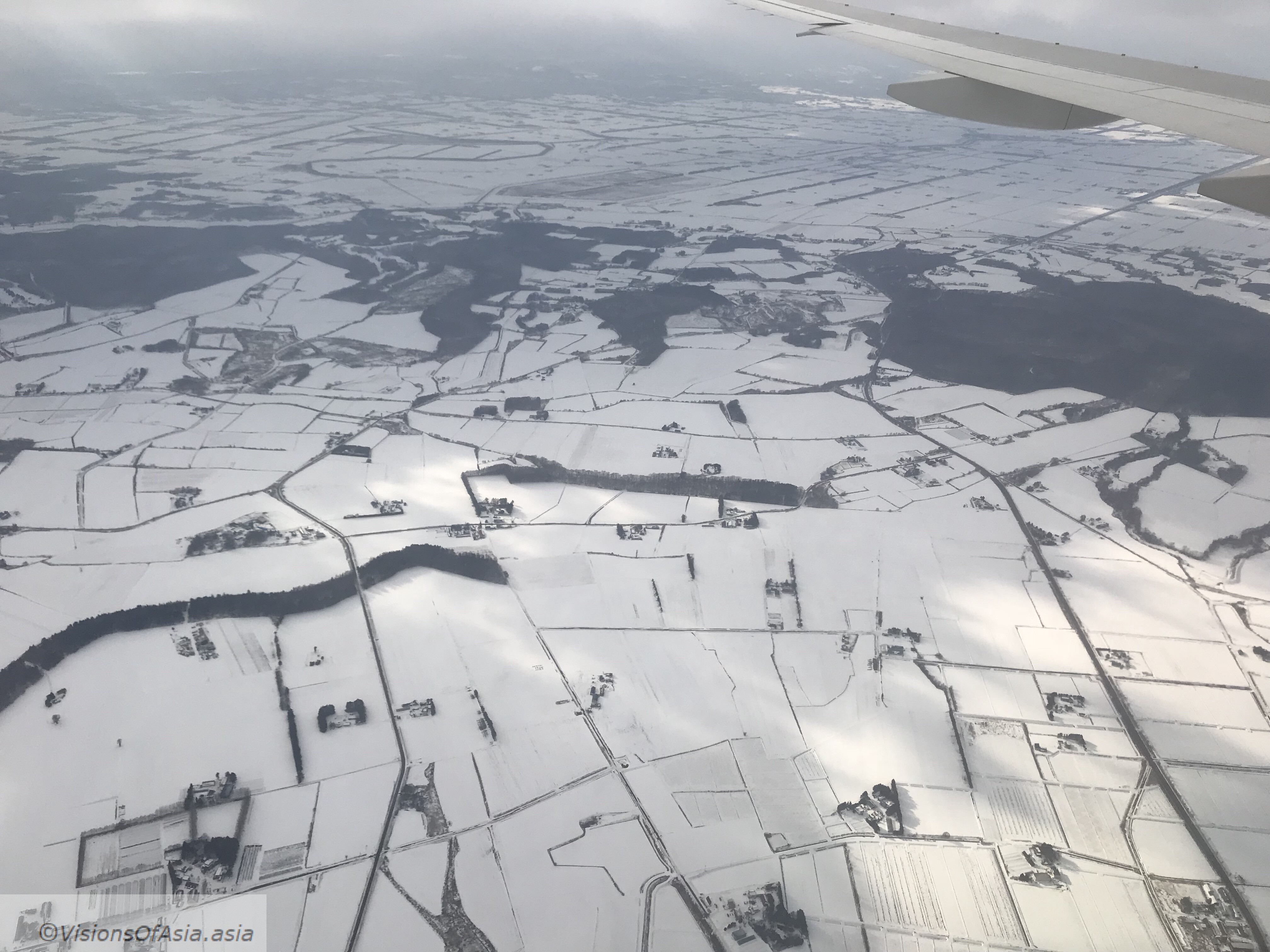First glimpse of snow over Hokkaido