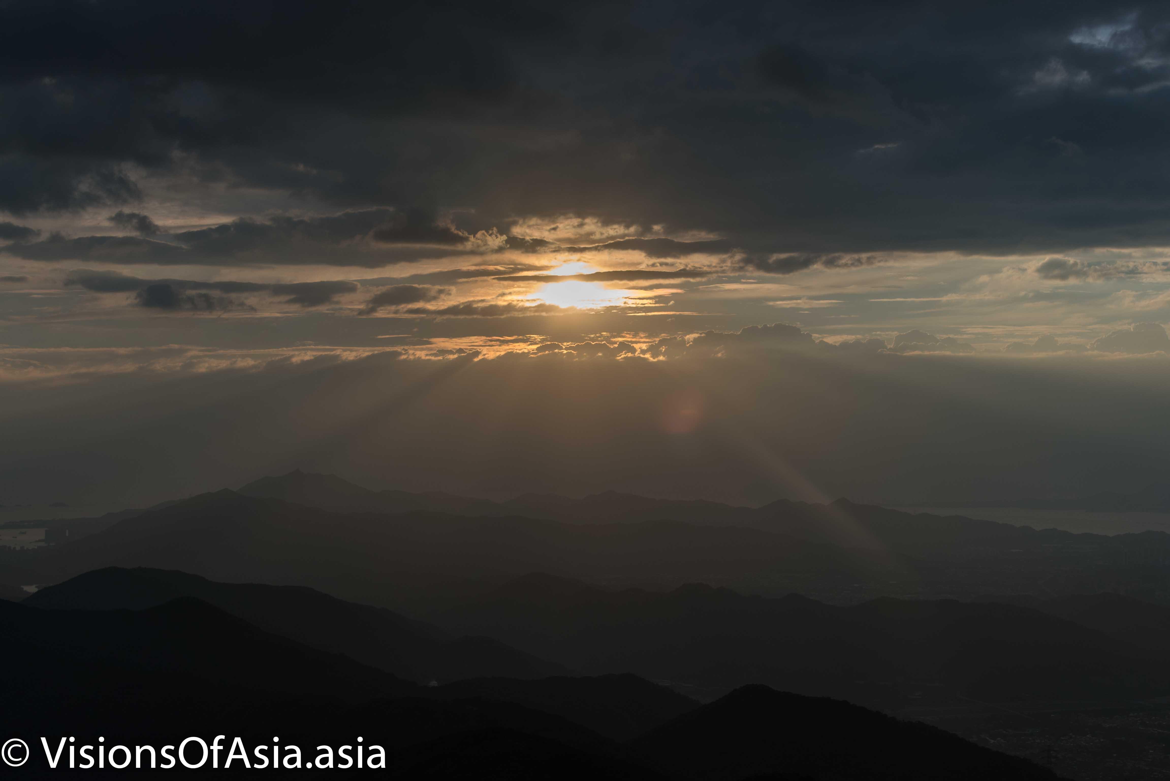 View of the angel light through Nikon