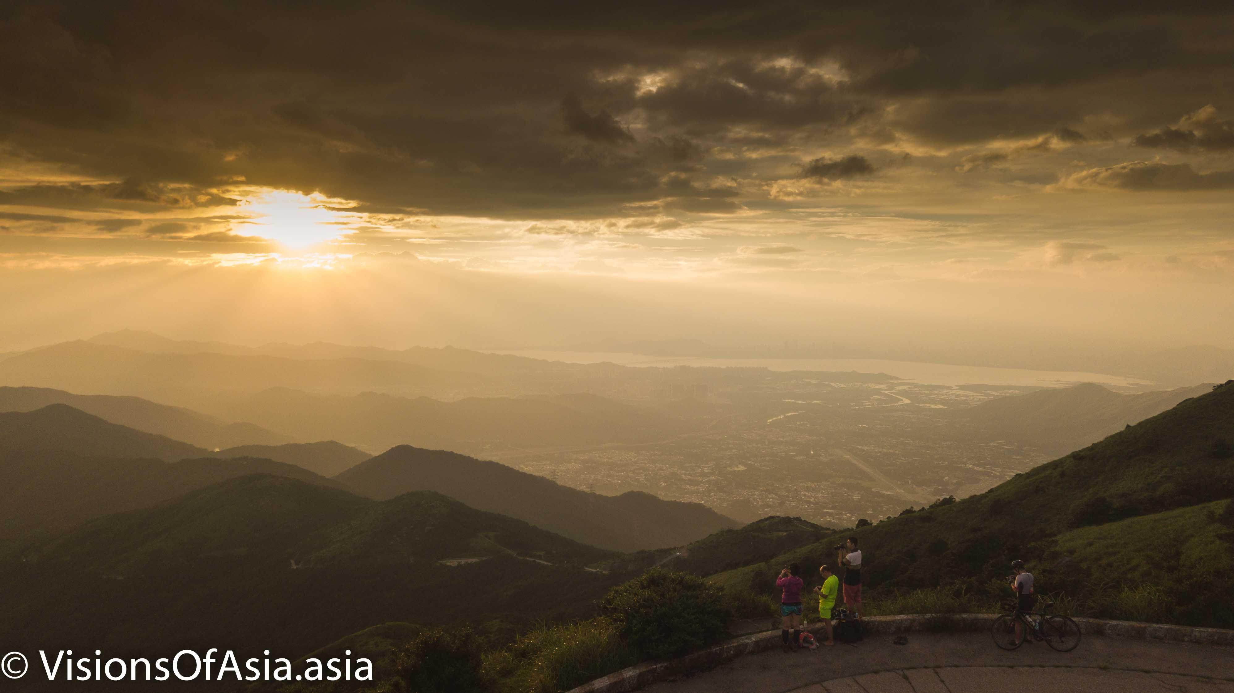 sunset over Tai Mo Shan