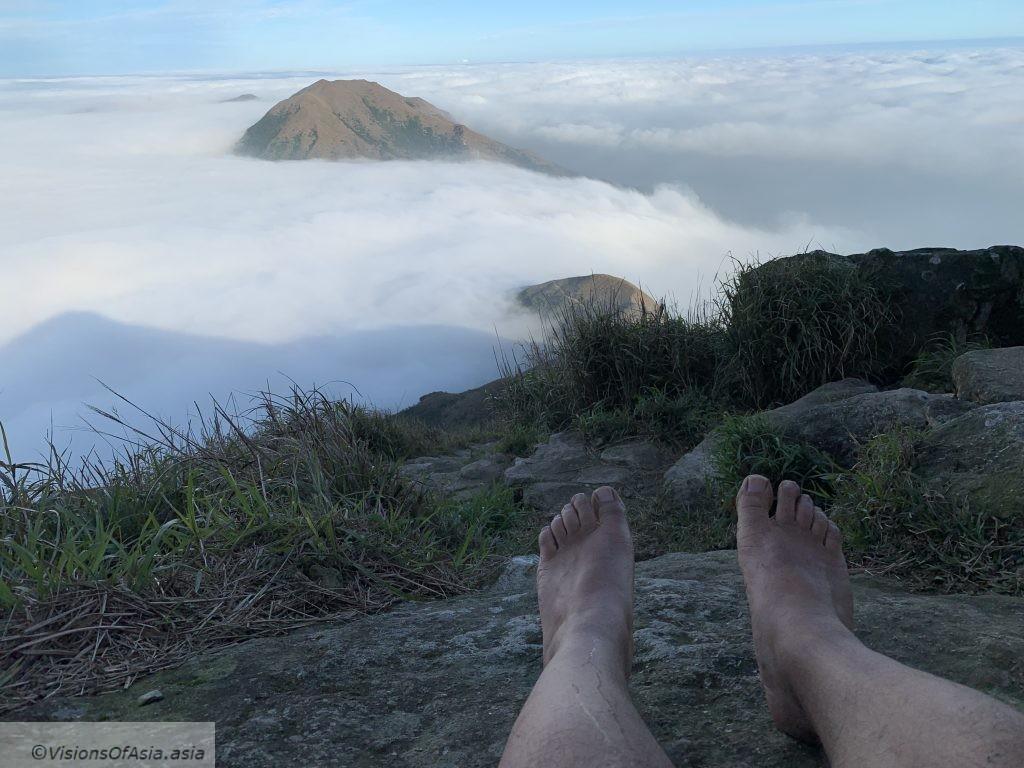 Sea of clouds on Lantau Peak