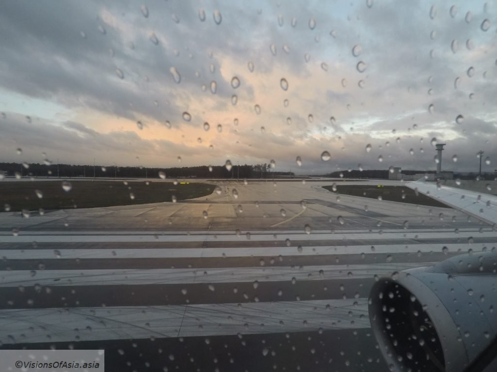Sunrise on the airport