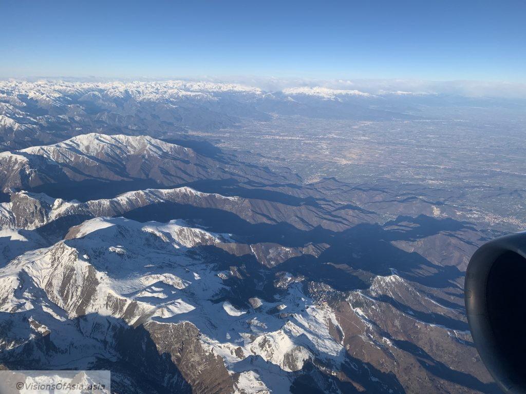 View on Italian alps