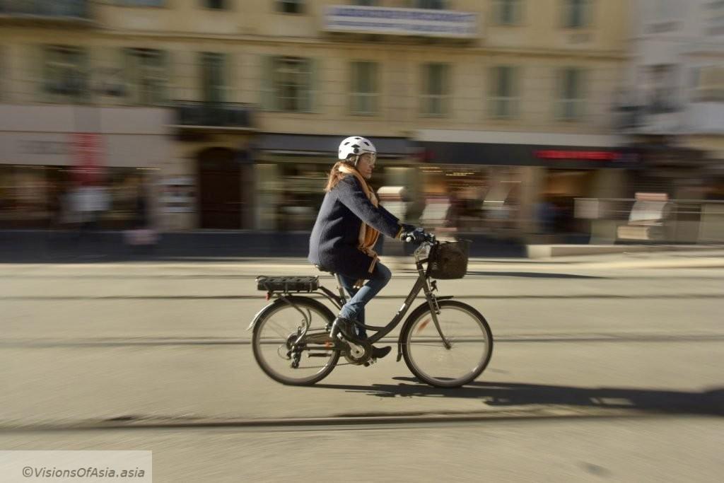 Biking in Nice