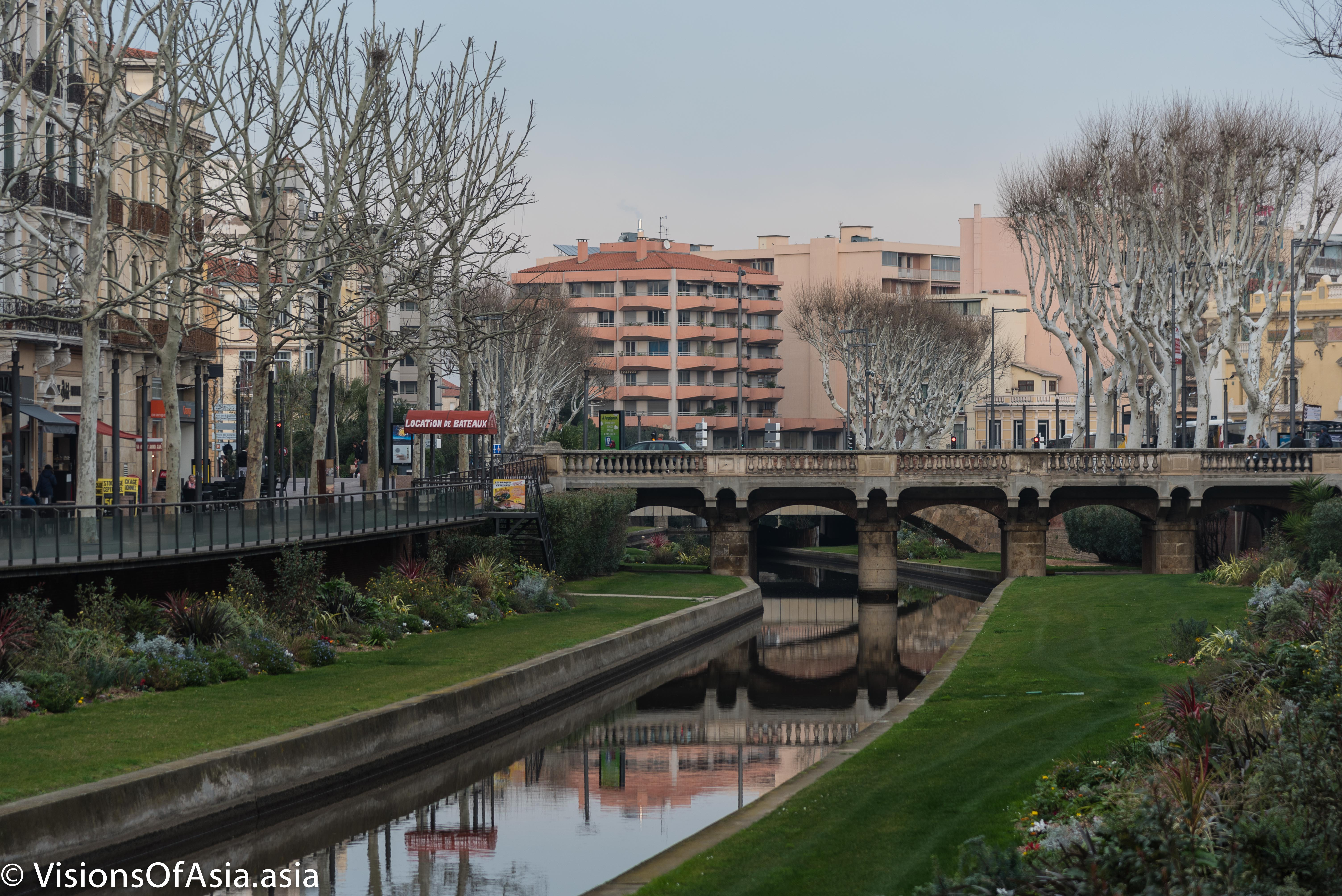 A canal in Perpignan