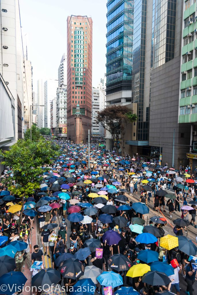 The protest marches on to Wanchai