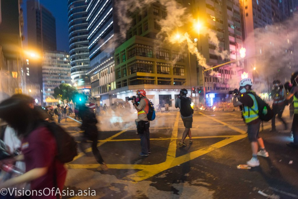 Tear gas drowns the streets