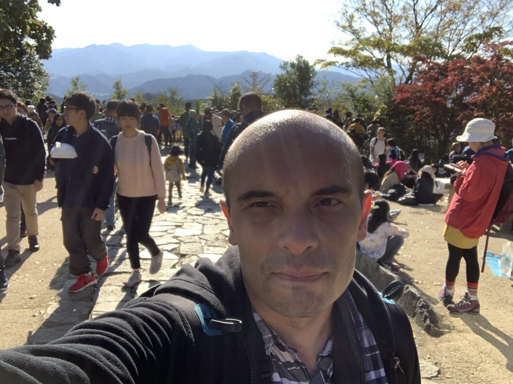 Me, at the top of Mount Takao