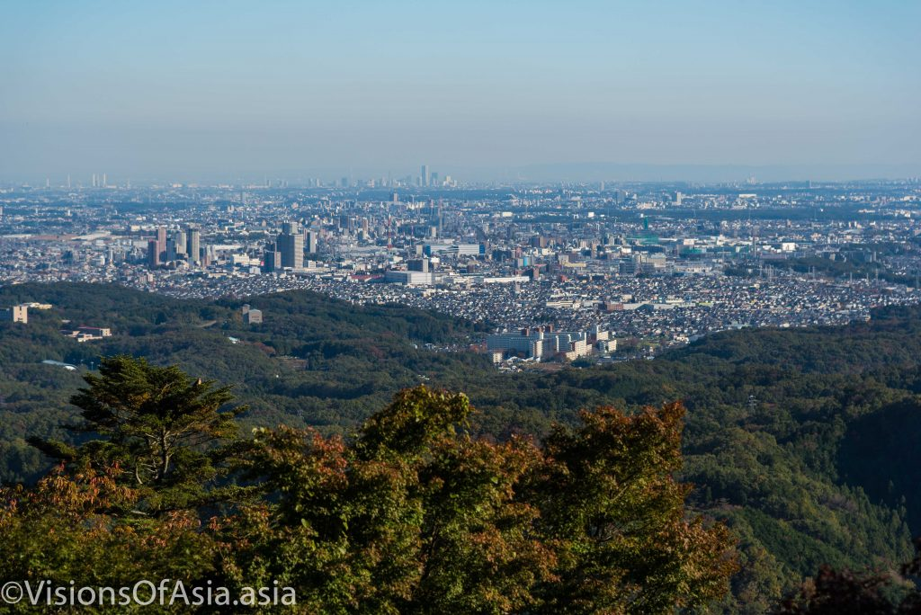The view on Tokyo from Takao-san