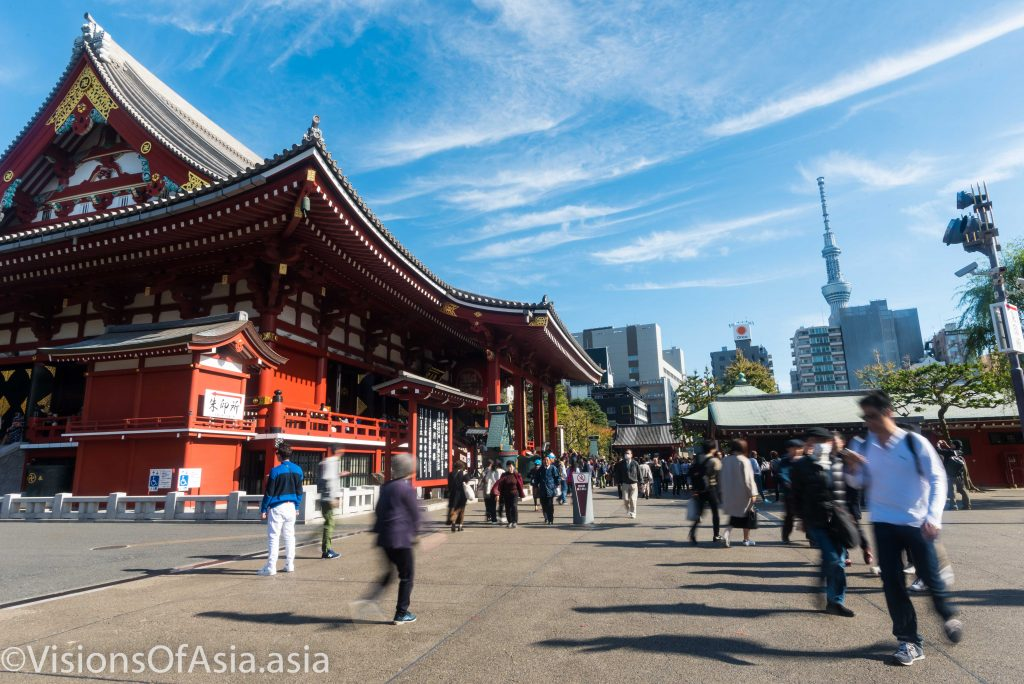 Senso-ji shrine and the Tokyo radio tower