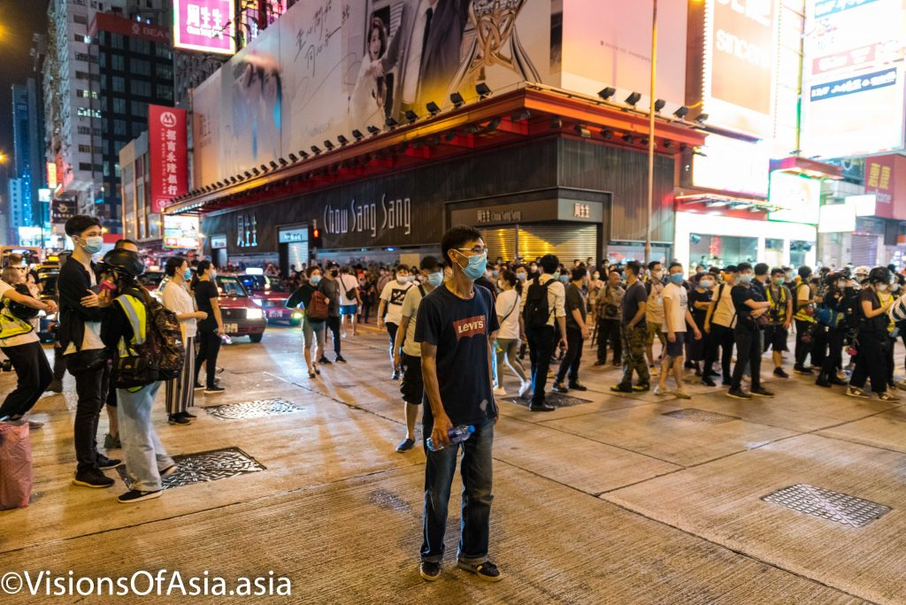 Protesters occupy Nathan road
